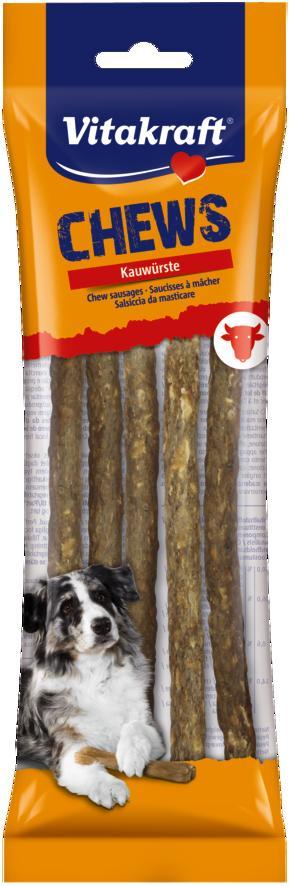 """Лакомство для собак Vitakraft """"Chews"""", жевательные палочки, натуральные, длина 20 см, 5 шт"""