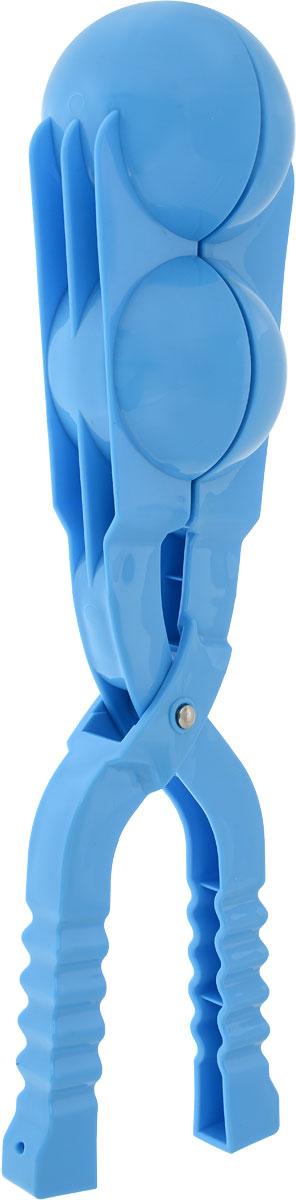 Зимние забавы Снежколеп двойной цвет голубой 36 см форма для лепки снежков abtoys форма тройная для лепки снежков зимние забавы