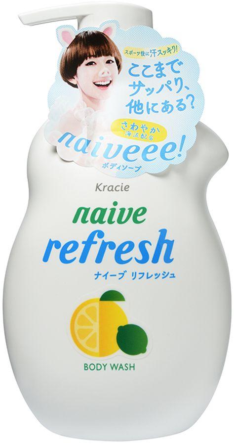 Kracie Мыло жидкое для тела Naive с ароматом цитрусовых, 530 мл kracie мыло жидкое для тела naive с ароматом цитрусовых сменная упаковка 380 мл