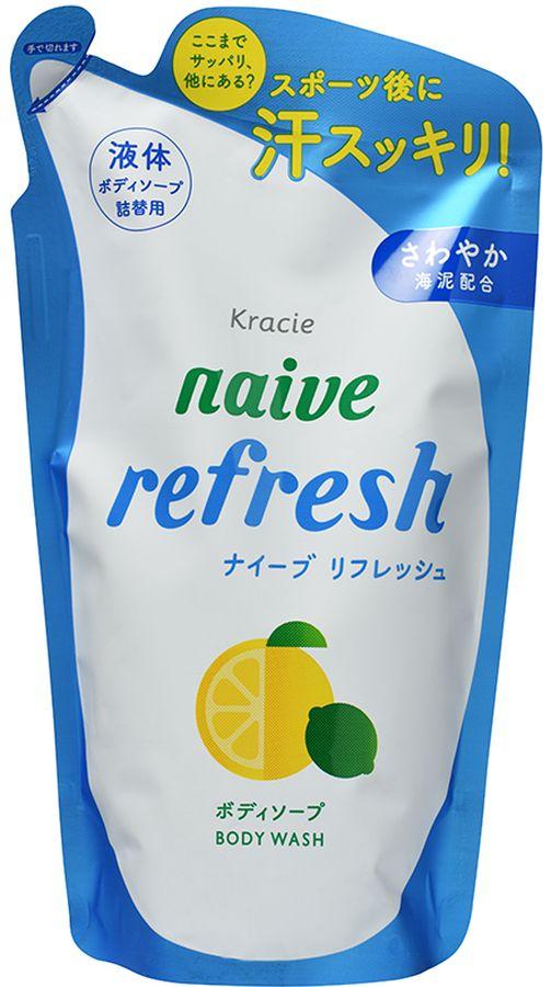 """Kracie Мыло жидкое для тела """"Naive"""" с ароматом цитрусовых (сменная упаковка), 380 мл"""
