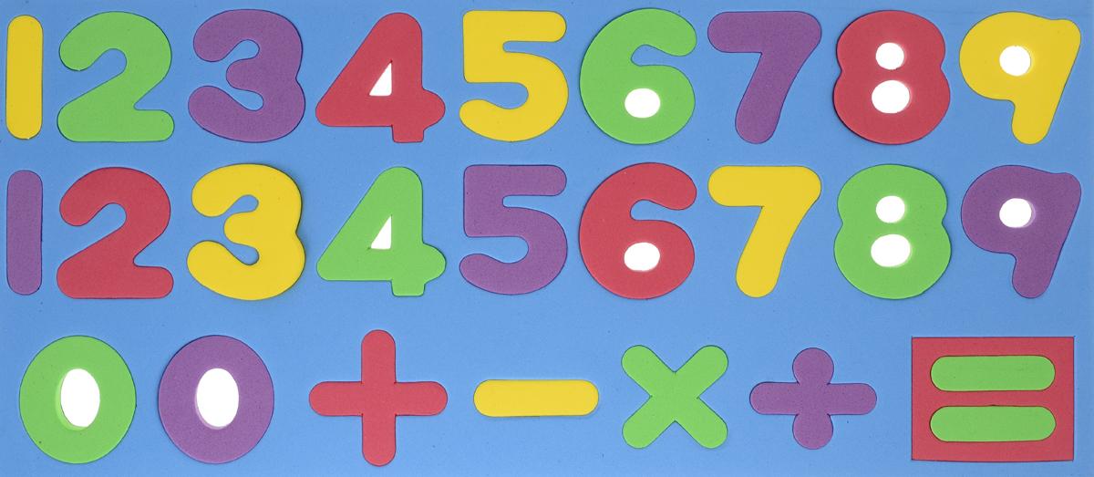 Kribly Boo Обучающая игра Набор магнитных цифр и знаков цвет голубой