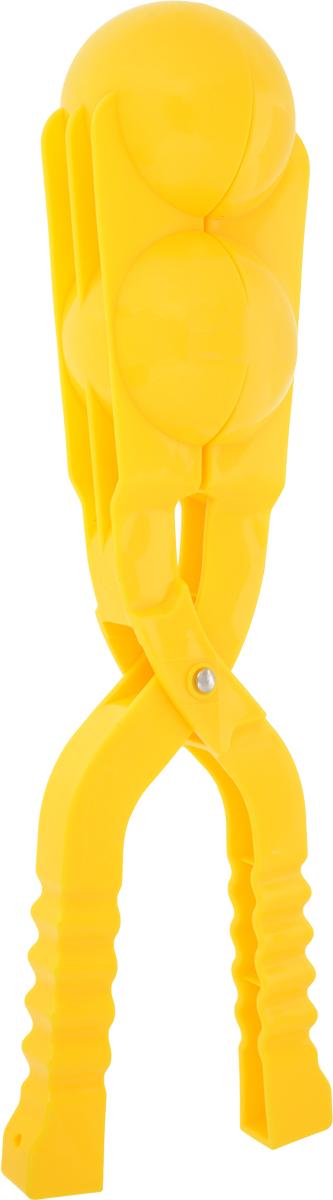 Зимние забавы Снежколеп двойной цвет желтый 36 см форма для лепки снежков abtoys форма тройная для лепки снежков зимние забавы