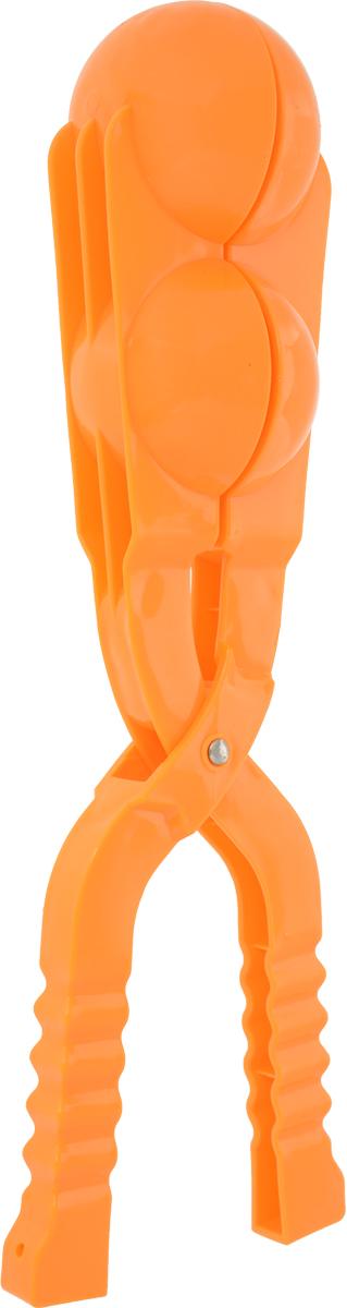 Зимние забавы Снежколеп двойной цвет оранжевый 36 см форма для лепки снежков abtoys форма тройная для лепки снежков зимние забавы
