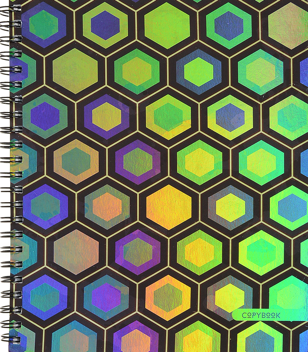 Канц-Эксмо Тетрадь Яркий орнамент 96 листов в клетку цвет в ассортименте