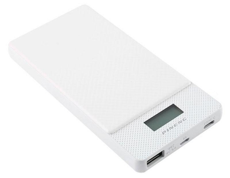 Pineng PN-993, White внешний аккумулятор c Type-C (10000 мАч)