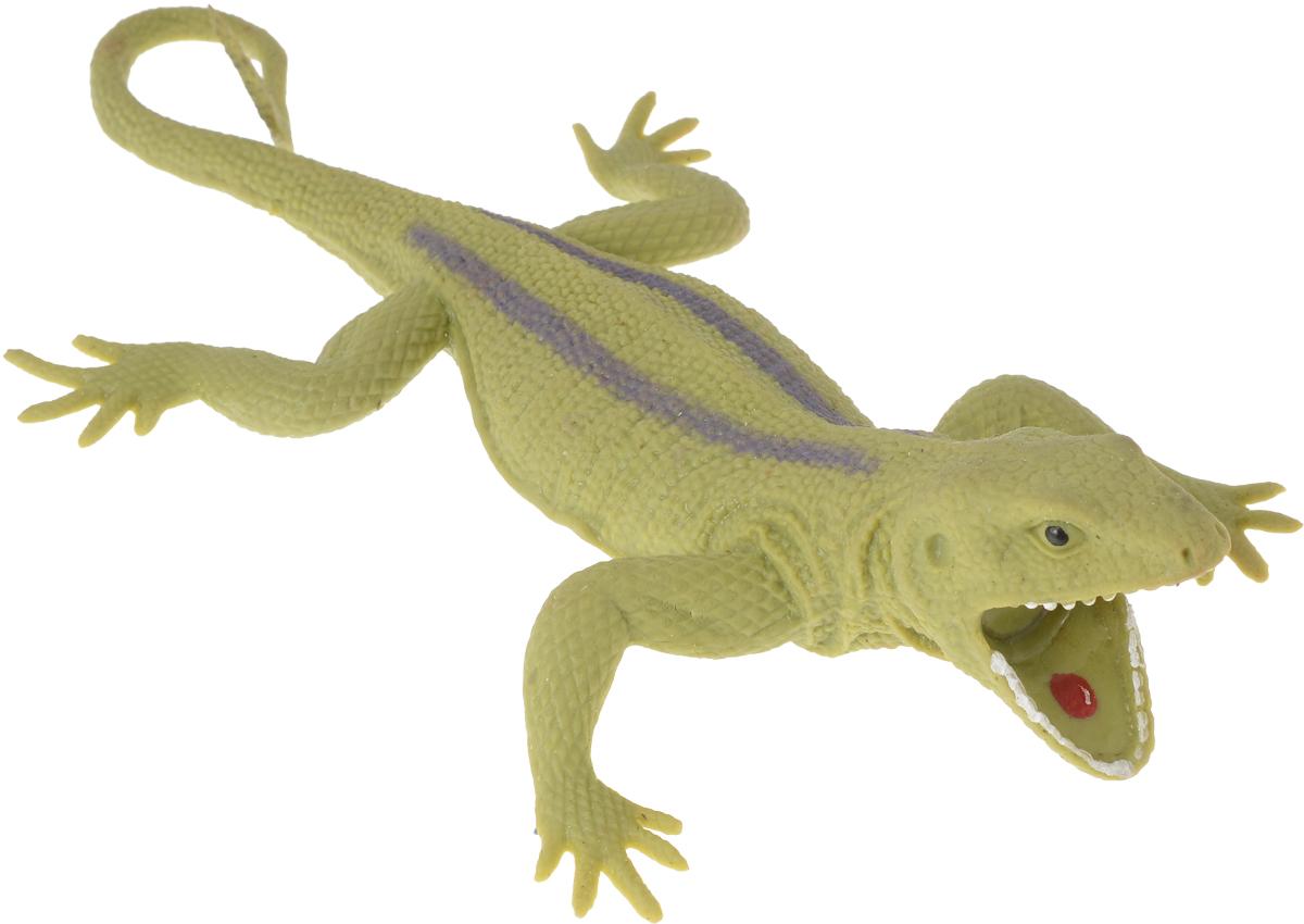 Играем вместе Игрушка Ящерица-тянучка цвет зеленый белый играем вместе фигурка дракон тянучка цвет фиолетовый