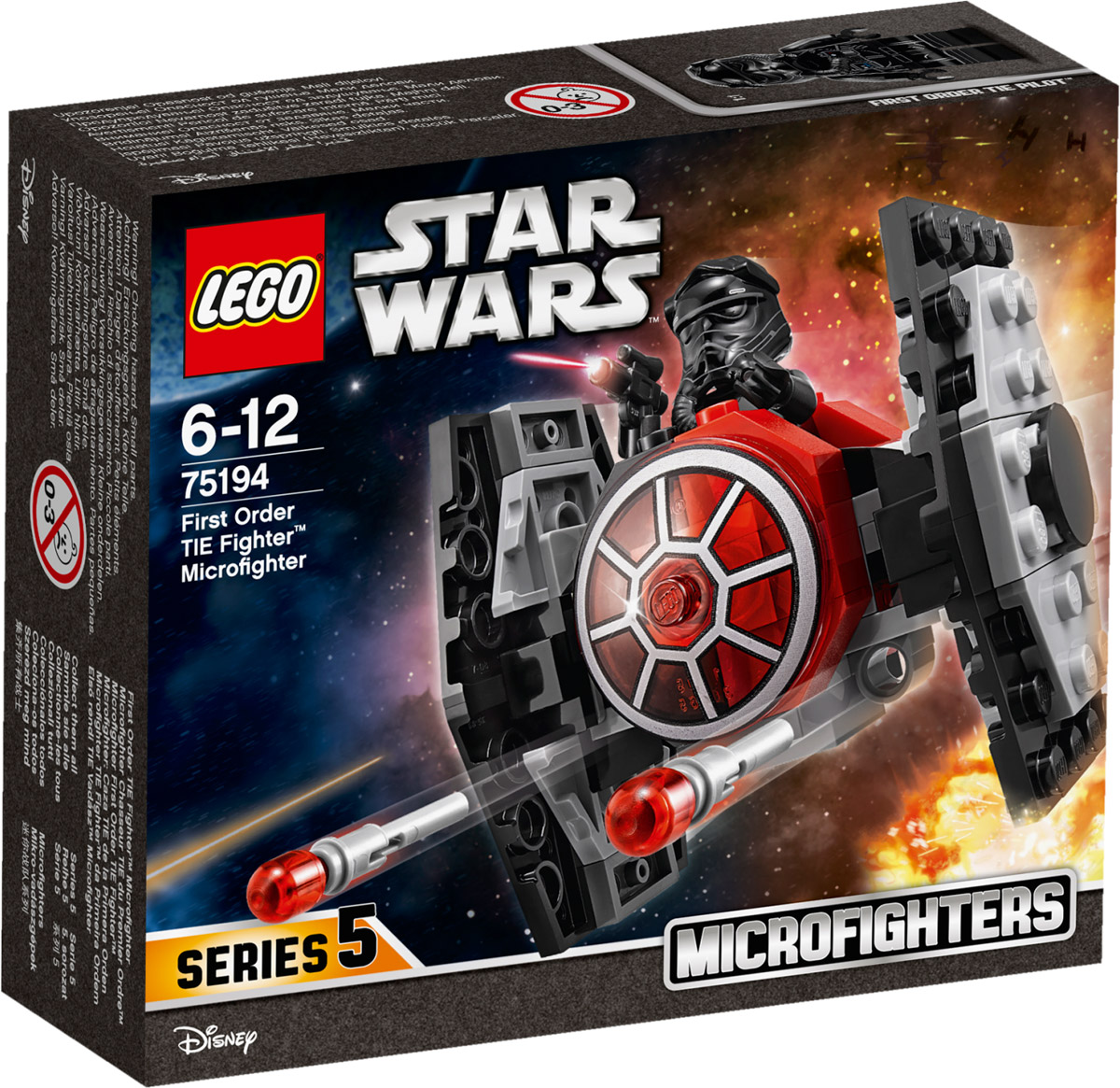 LEGO Star Wars 75194 Микрофайтер Истребитель СИД Первого Ордена Конструктор конструктор lego 75201 вездеход at st первого ордена