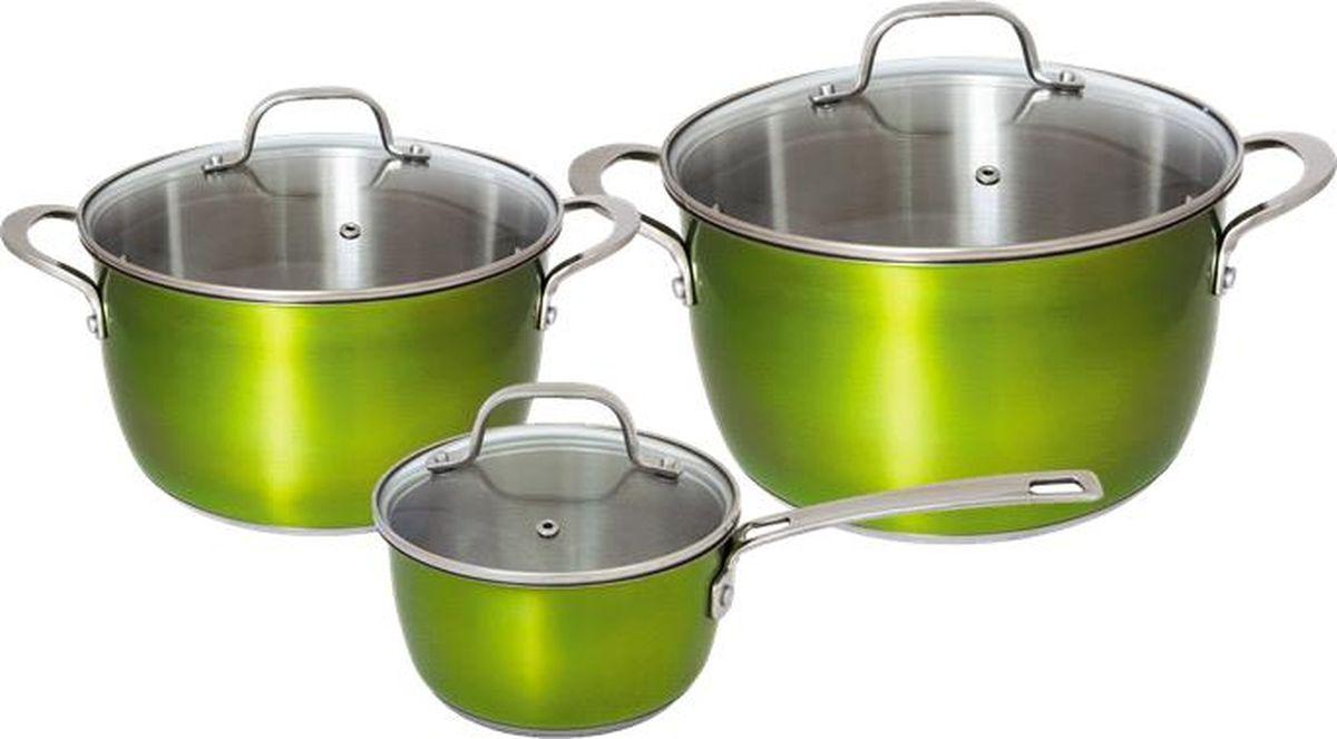 цены на Набор посуды для приготовления, 6 пр., нерж. сталь, Emerald , Esprado, EMR6000E133  в интернет-магазинах