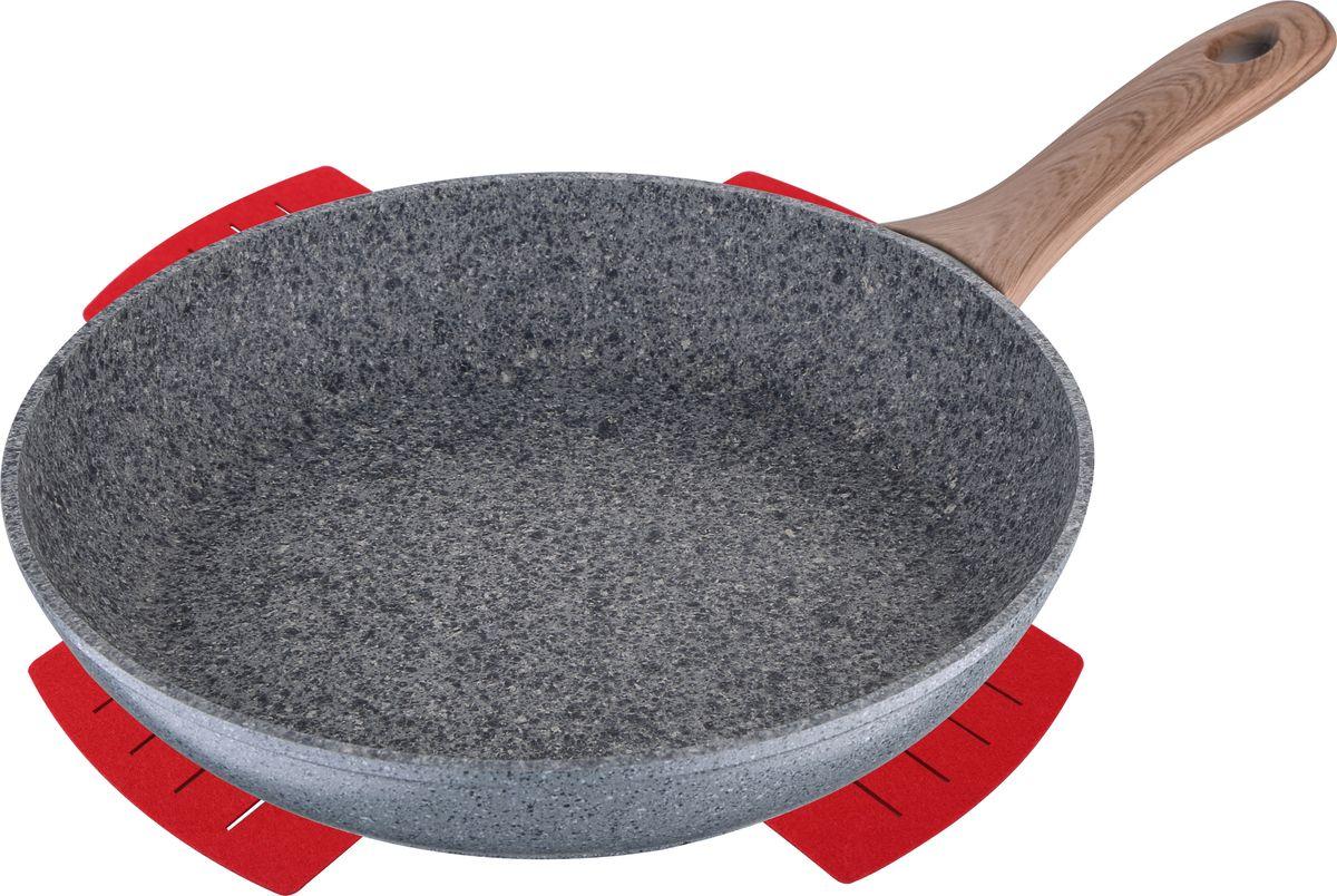Сковорода Bergner Granit Eco, с антипригарным покрытием. Диаметр 28 см bergner