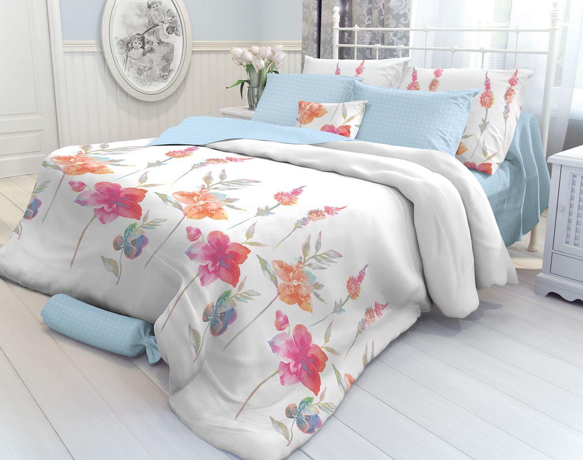 """Комплект белья Verossa """"Color Flowers"""", 1,5-спальный, наволочки 70х70"""