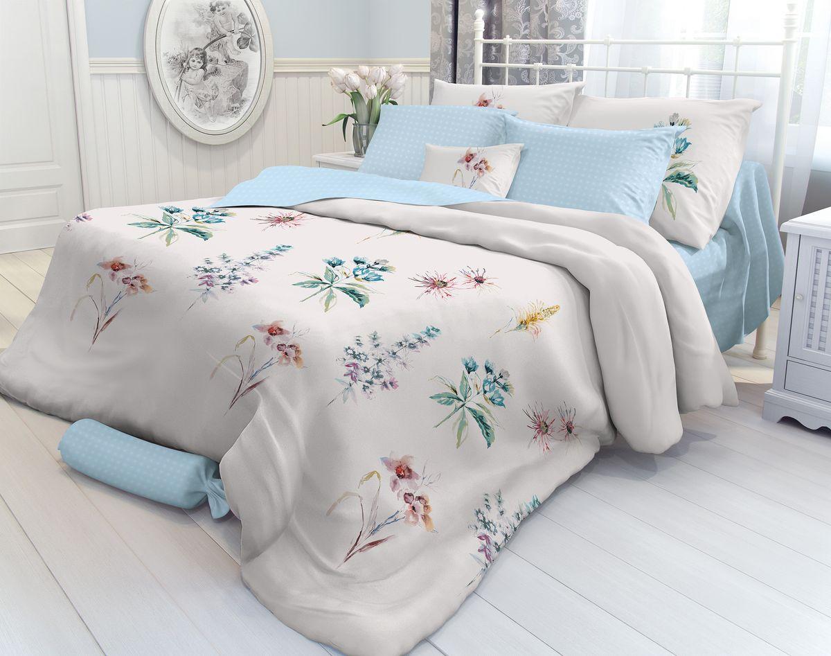 Комплект белья Verossa Field Flowers, 1,5-спальный, наволочки 50х70. 708741708741Комплект постельного белья Verossa включает в себя четыре предмета: простыню, пододеяльник и две наволочки, выполненные из перкаля. Перкаль - это тонкая, повышенной плотности в основном белая хлопчатобумажная ткань полотняного переплетения. Постельное белье Verossa предназначено для людей ценящих комфорт, стиль и высокое качество. Советы по выбору постельного белья от блогера Ирины Соковых. Статья OZON Гид