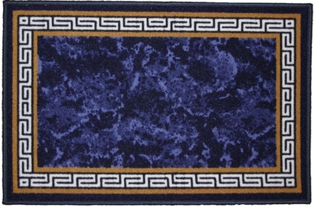 Ковер MAC Carpet Розетта. Версаче, цвет: синий, 50 x 76 см коврик для ванной mac carpet розетта цвет коричневый розовый 57 х 60 см