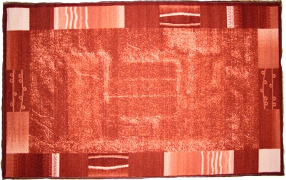 Ковер MAC Carpet Розетта. Абстракция 1, цвет: красно-коричневый, 100 x 160 см коврик для ванной mac carpet розетта цвет коричневый розовый 57 х 60 см