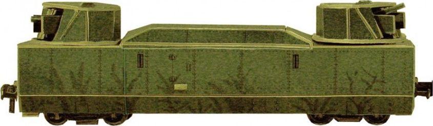 Умная бумага Сборная модель из картона Бронеплощадка