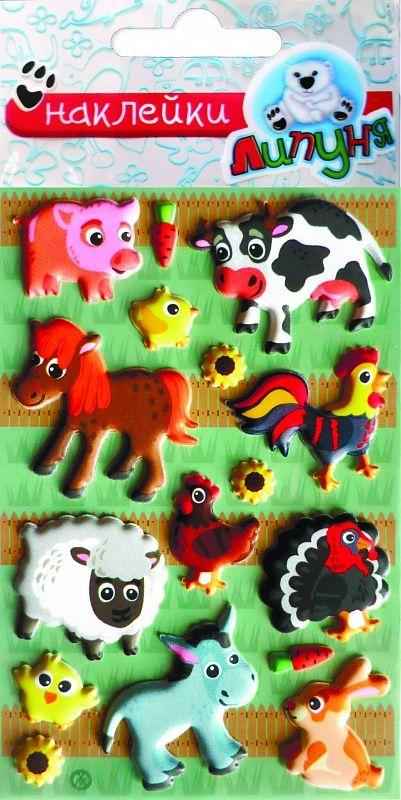 Липуня Зефирные наклейки Звери-3 липуня яркие наклейки животные
