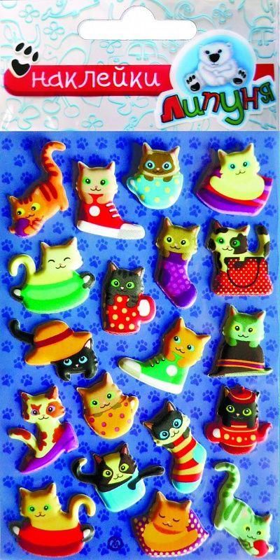 Липуня Зефирные наклейки Котята-2 липуня яркие наклейки животные