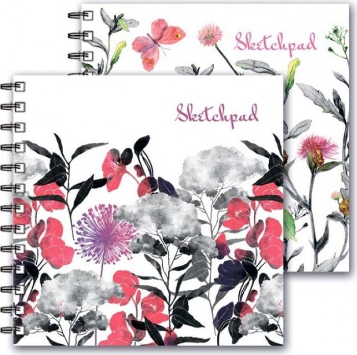 Феникс+ Альбом для эскизов Цветы 80 листов альбом для рисования феникс 47110 5 полосатые коты 40 листов