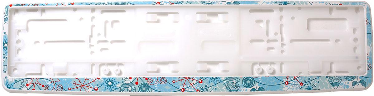 Рамка для номера Концерн Знак Снежинки 1, цвет: белый рамка для номера на мотоцикл