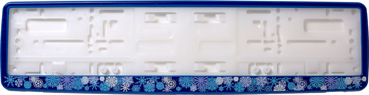 Рамка для номера Концерн Знак Зима 2, цвет: синий рамка для номера на мотоцикл