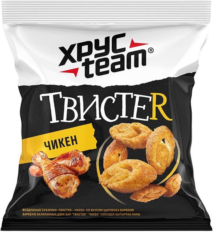 Хрусteam ТвистеR сухарики Цыпленок, 45 г хрусteam твистеr сухарики бекон 45 г