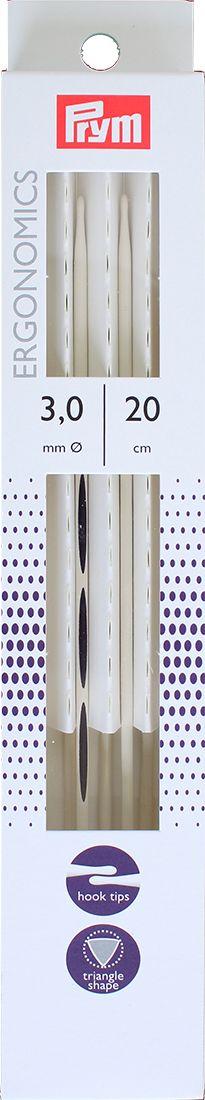 Спицы чулочные Prym Ergonomics, диаметр 3 мм, длина 20 см, 5 шт. 194202 набор форм для запекания home queen диаметр 18 5 см 3 шт