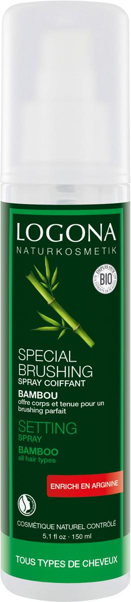 Logona Натуральный Cпрей для укладки волос с Экстрактом Бамбука, 150 мл logona