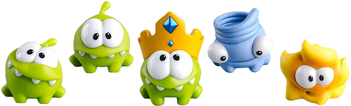 PROSTO toys Cut the Rope Набор фигурок 11 Ам Ням, 5 шт prosto toys cut the rope набор фигурок 6 ам ням 2 шт