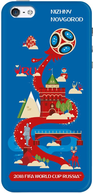 Deppa FIFA Нижний Новгород чехол для Apple iPhone 5/5S/SE, Black deppa fifa ростов на дону чехол для apple iphone 5 5s se blue