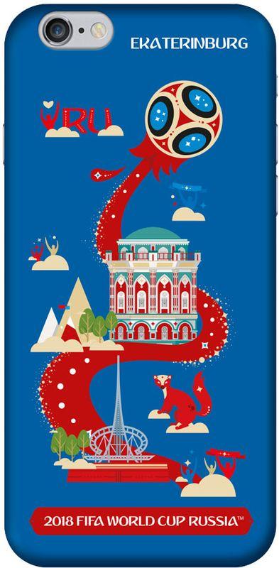 Deppa FIFA Екатеринбург чехол для Apple iPhone 6/6S, Black