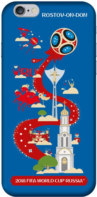 Deppa FIFA Ростов-на-Дону чехол для Apple iPhone 6/6S, Black deppa fifa ростов на дону чехол для apple iphone 5 5s se blue