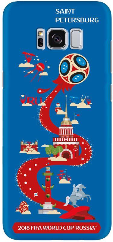 цена Deppa FIFA Санкт-Петербург чехол для Samsung Galaxy S8, Blue