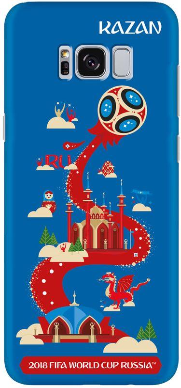 Deppa FIFA Казань чехол для Samsung Galaxy S8, Blue