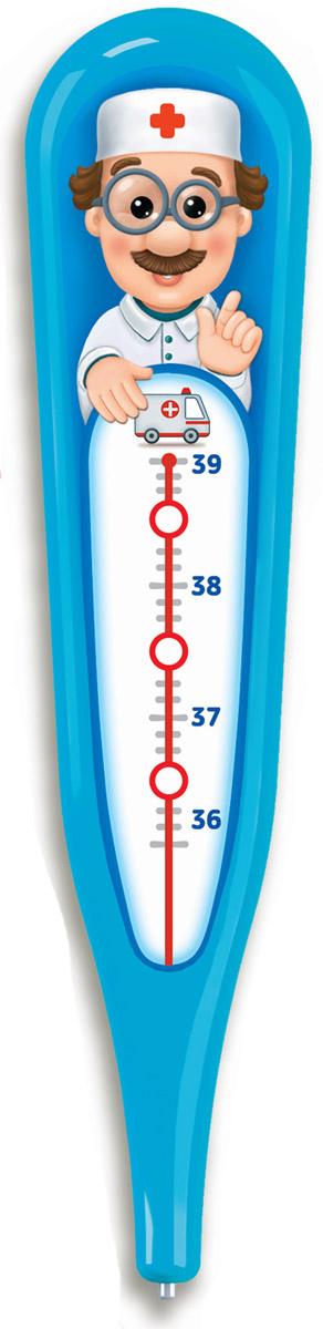 Азбукварик Электронная игрушка Говорящий градусник цвет синий азбукварик электронная музыкальная игрушка курочка ряба