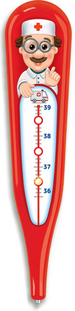 Электронная игрушка Азбукварик Говорящий градусник, цвет: красный чикко игрушка развивающая говорящий дракон
