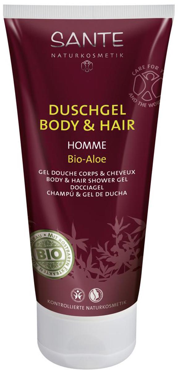 Sante Homme Мужской шампунь-гель для волос и тела, 200 мл хималая хербалс шампунь от перхоти для нормальных волос мягкое очищение 200мл