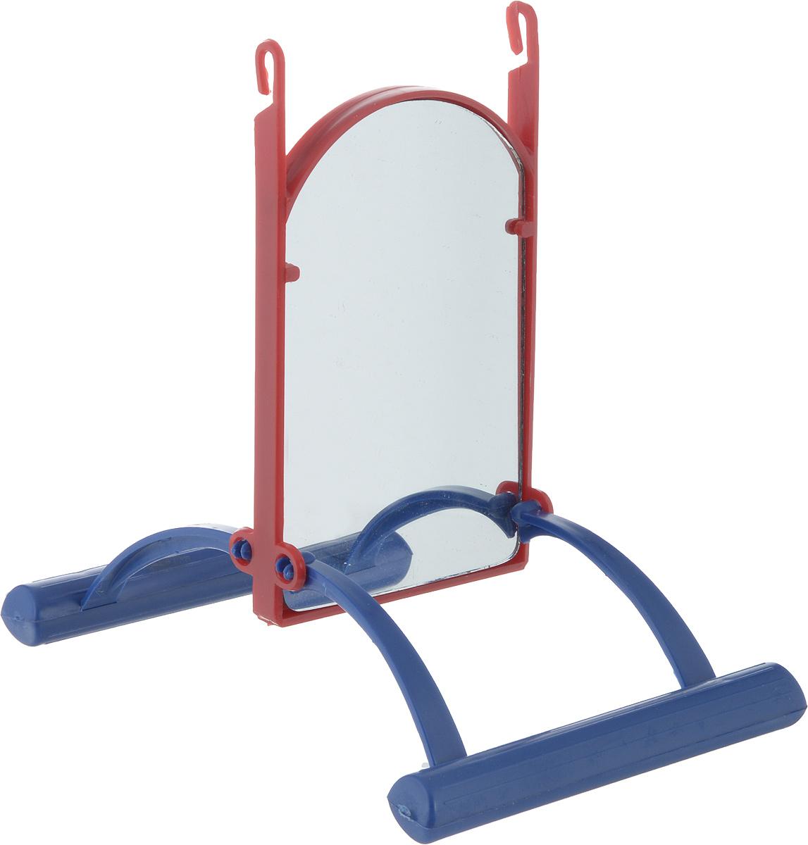 Зеркало для попугая Trixie, цвет: синий, красный, вид 2, 13 см цена