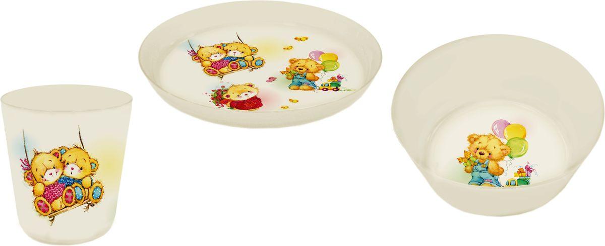 Little Angel Набор детской посуды Bears 3 предмета тенты зонты little angel 33
