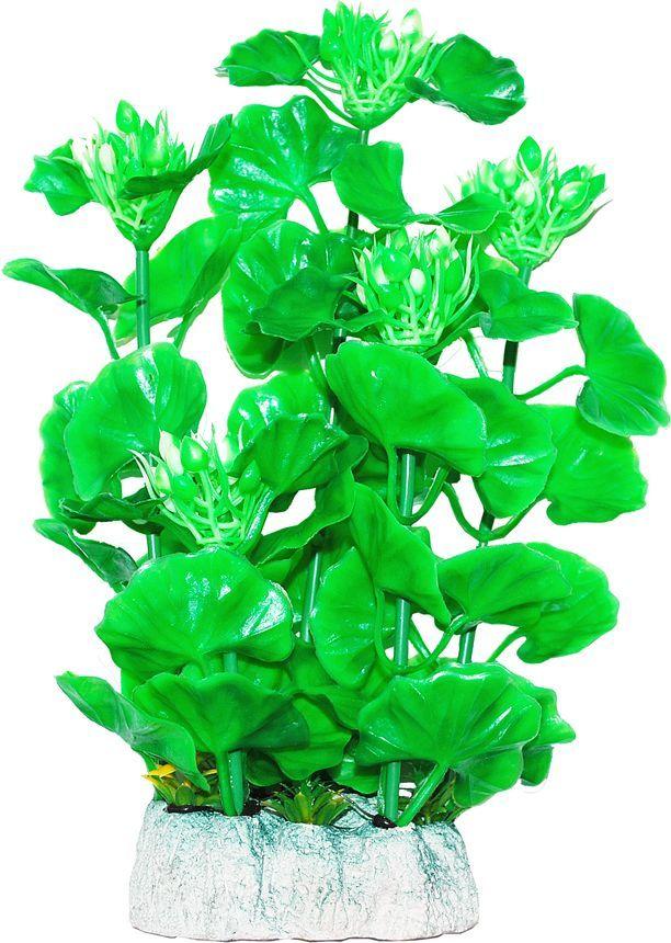 Растение для аквариума Уют Хедизариум зеленый с бутонами, высота 24 см растение для аквариума уют щитолистник зеленый высота 11 см
