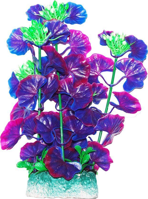 Растение для аквариума Уют Щитолистник фиолетовый, высота 24 см растение для аквариума уют щитолистник зеленый высота 11 см