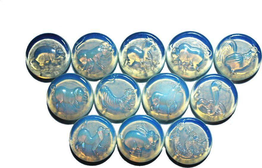"""Лунный камень """"№1"""", для аквариума, со знаками восточного гороскопа"""