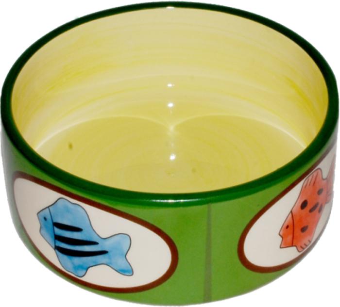 Миска для кошек №1 Рыбки, 12,5 х 12,5 х 5 см. МКР087МКР087Керамическая миска для кошек. Проста в использовании, гигиенична и долговечна. Антибактериальные свойства. Не впитывает жир и запах. Нетоксична. Рассчитана на длительное активное использование.