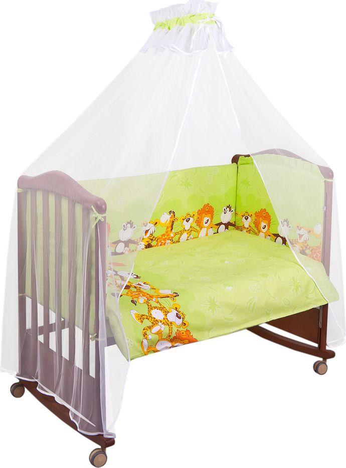 Сонный гномик Комплект белья для новорожденных Африка цвет светло-зеленый 6 предметов стоимость