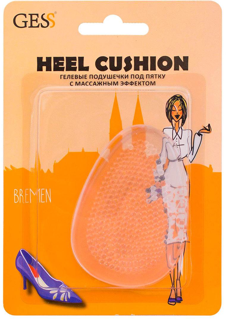 все цены на Gess Гелевые подушечки под пятку с массажным эффектом Heel Cushion онлайн