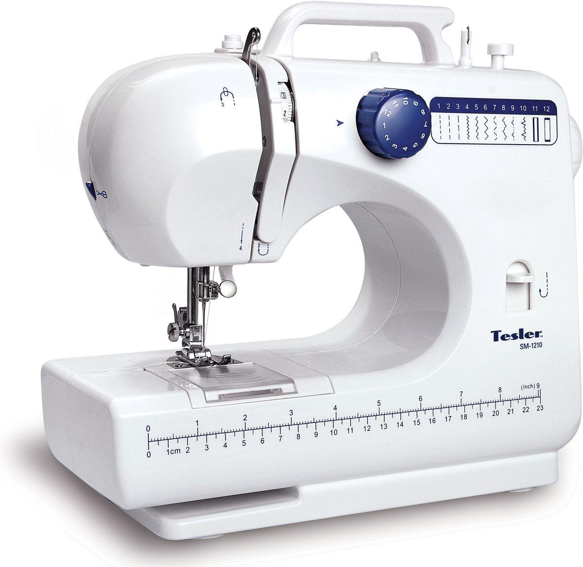 Швейная машина Tesler SM-1210, White швейная машина tesler sm 1210
