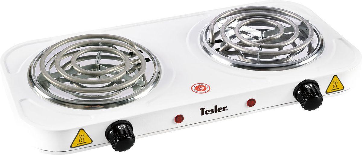Настольная плита Tesler PEO-02, White электрическая плита tesler peo 02 white