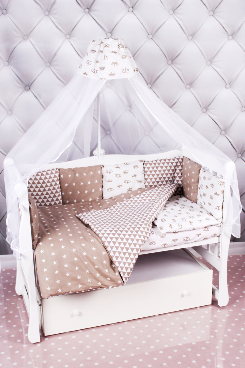 Amarobaby Комплект белья для новорожденных Royal Baby цвет коричневый 18 предметов