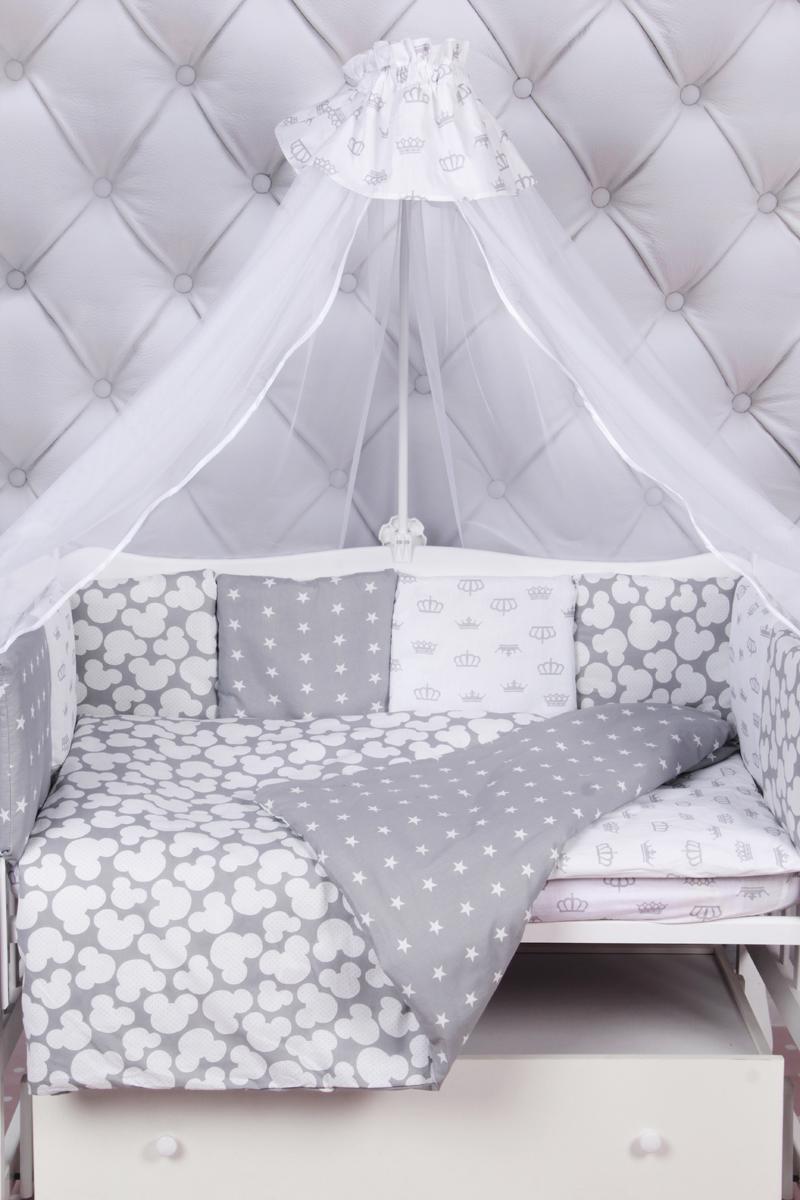 Amarobaby Комплект белья для новорожденных Silver цвет серый 18 предметов