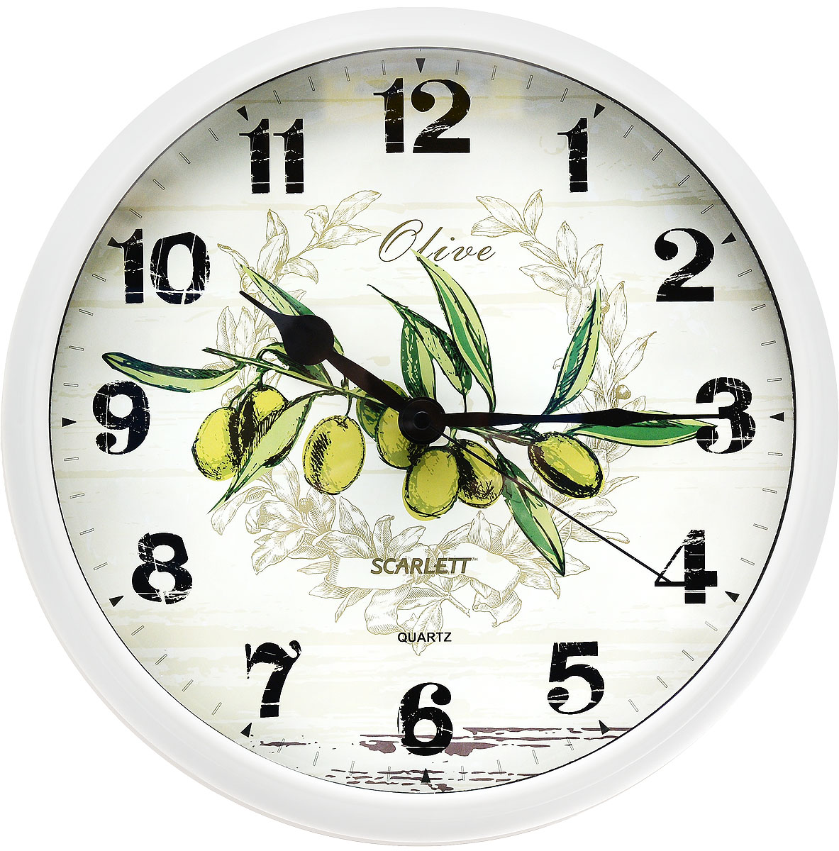 Часы настенные Scarlett, диаметр 31 см. SC - WC1005K цена