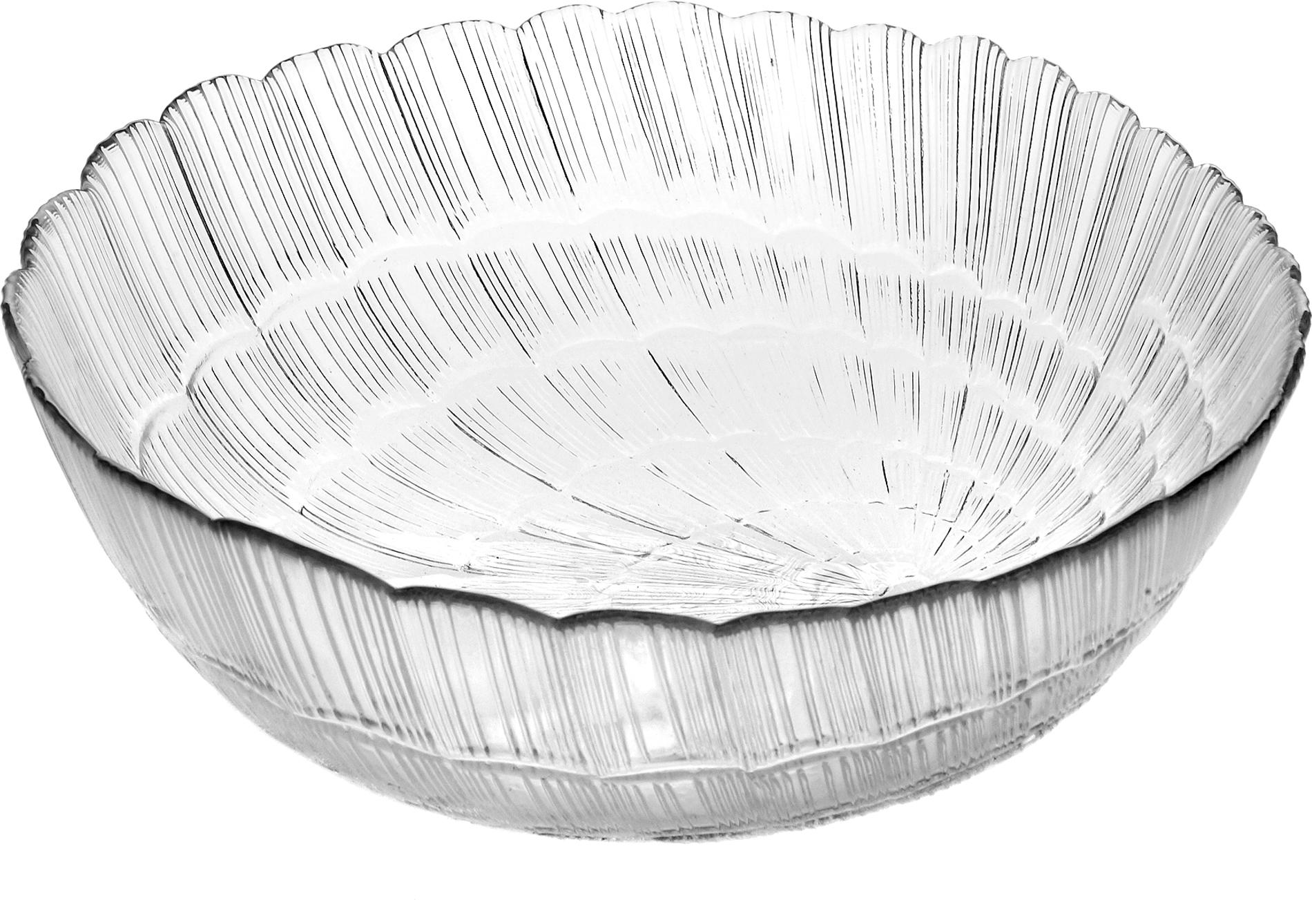 Салатник Pasabahce Атлантис, цвет: прозрачный, диаметр 12 см тарелка pasabahce атлантис цвет прозрачный диаметр 21 см