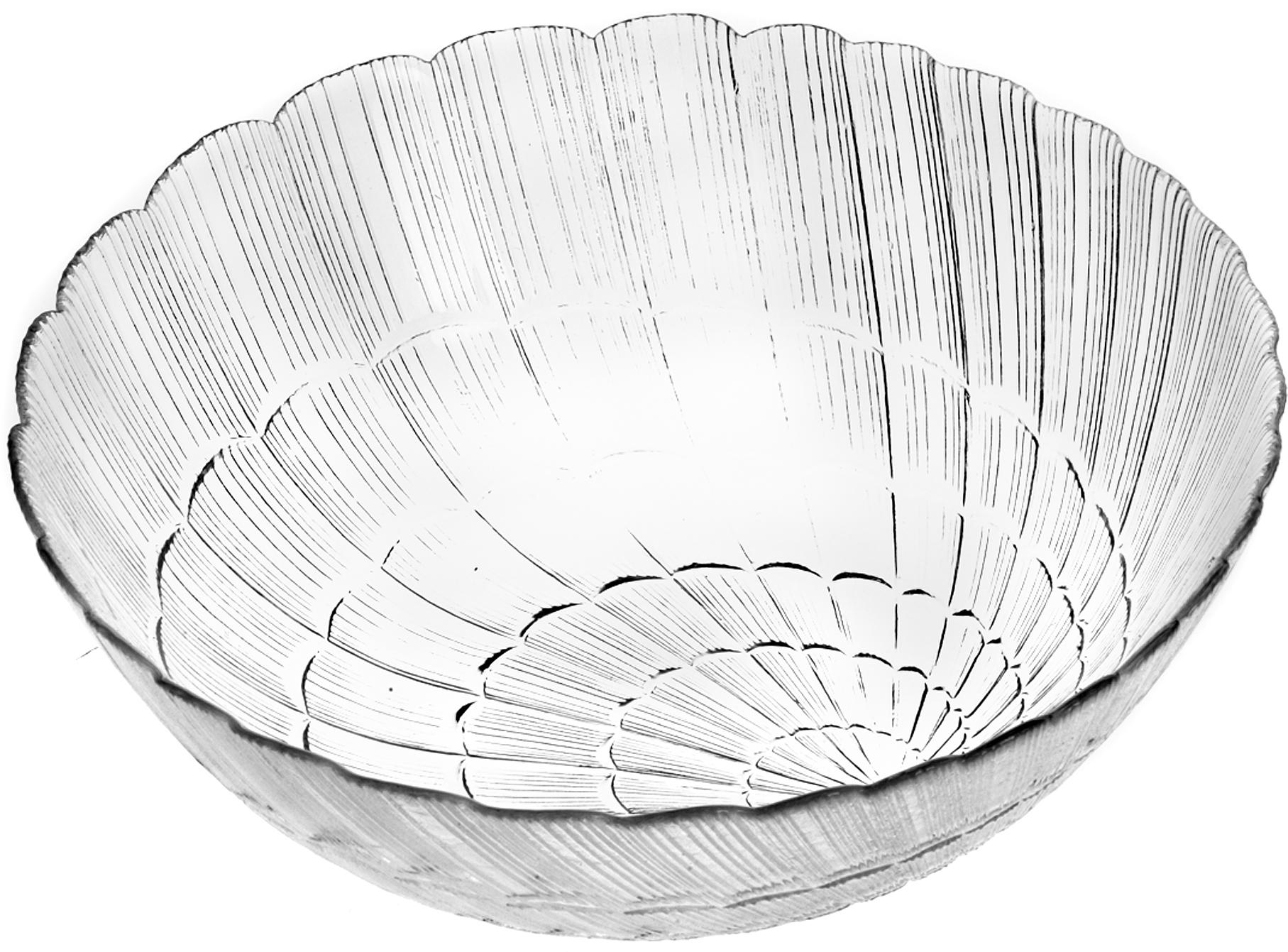 Салатник Pasabahce Атлантис, цвет: прозрачный, диаметр 27 см тарелка pasabahce атлантис цвет прозрачный диаметр 21 см